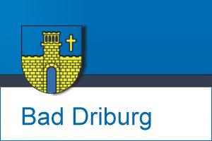 Wappen Bad Driburg mit Rahmen