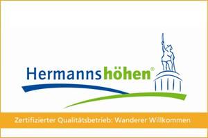Hermannshöhen Qualitätssiegel mit Rahmen